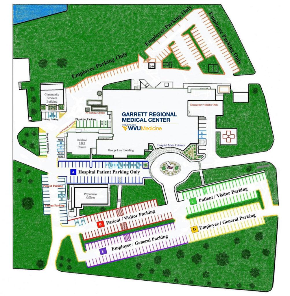 GRMC Parking Map